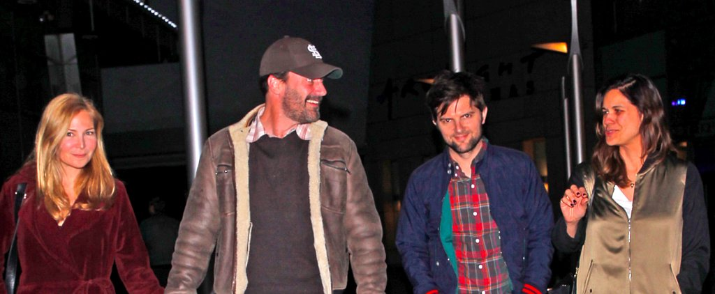 Jon Hamm and Adam Scott Double Date With Their Gorgeous Gals