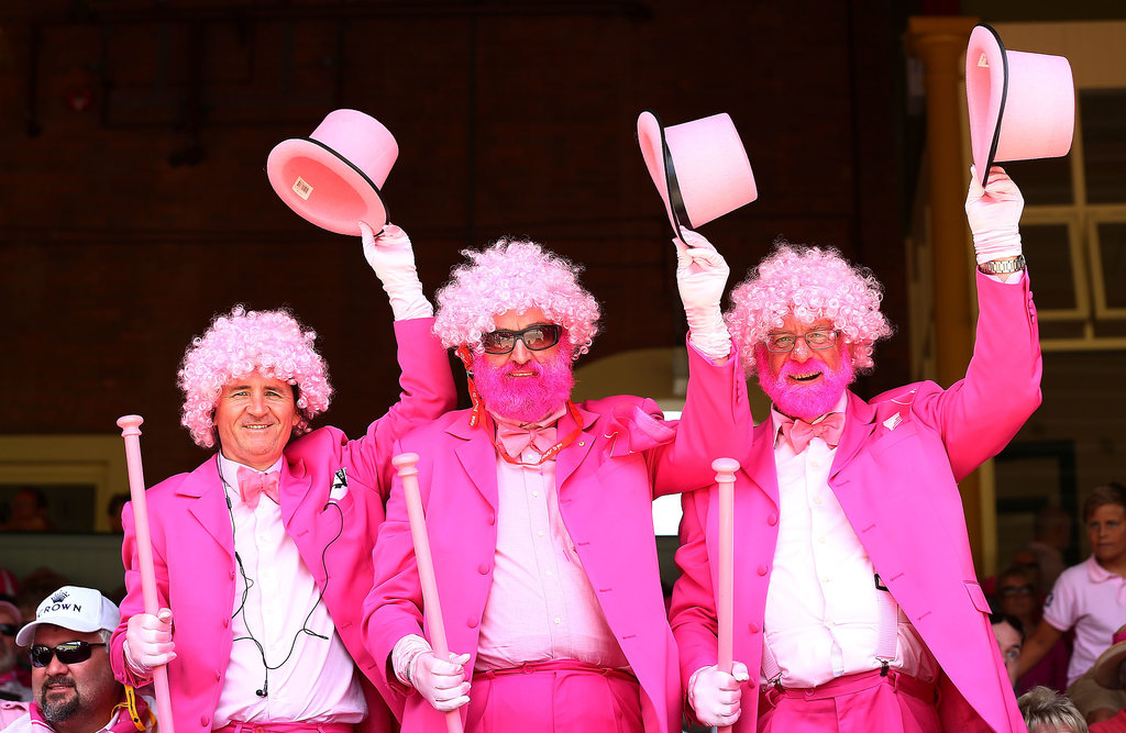 Fans really got into the pink spirit of Jane McGrath Day.