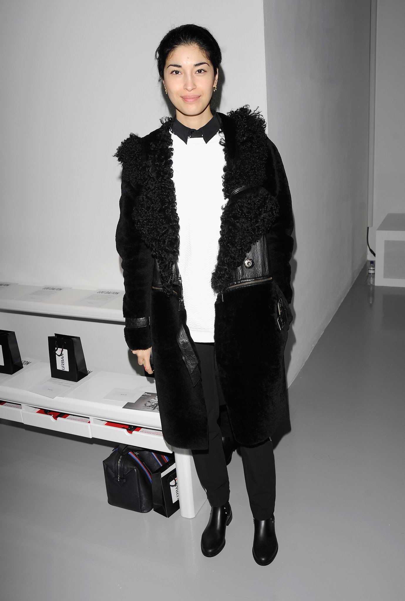 Caroline Issa at the Topman Men's Fashion Week show.