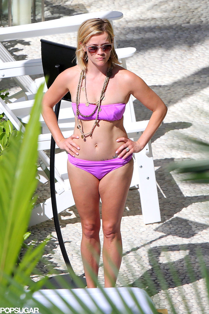 Reese showed off her figure in a bikini.