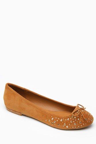 Bamboo Metallic Rhinestone Tan Faux Suede Flats @ Cicihot Flats Shoes online store:Women's Casual Flats,Sexy Flats,Black Flats,W