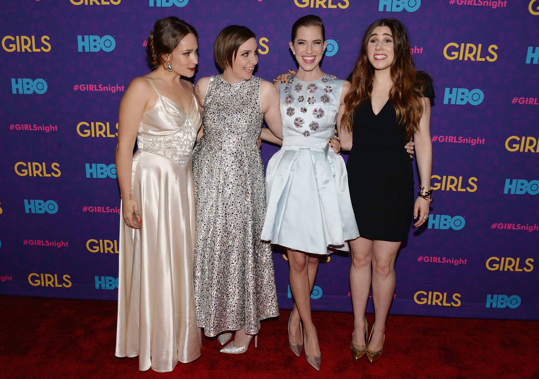 Jemima, Lena, Allison, and Zosia posed.