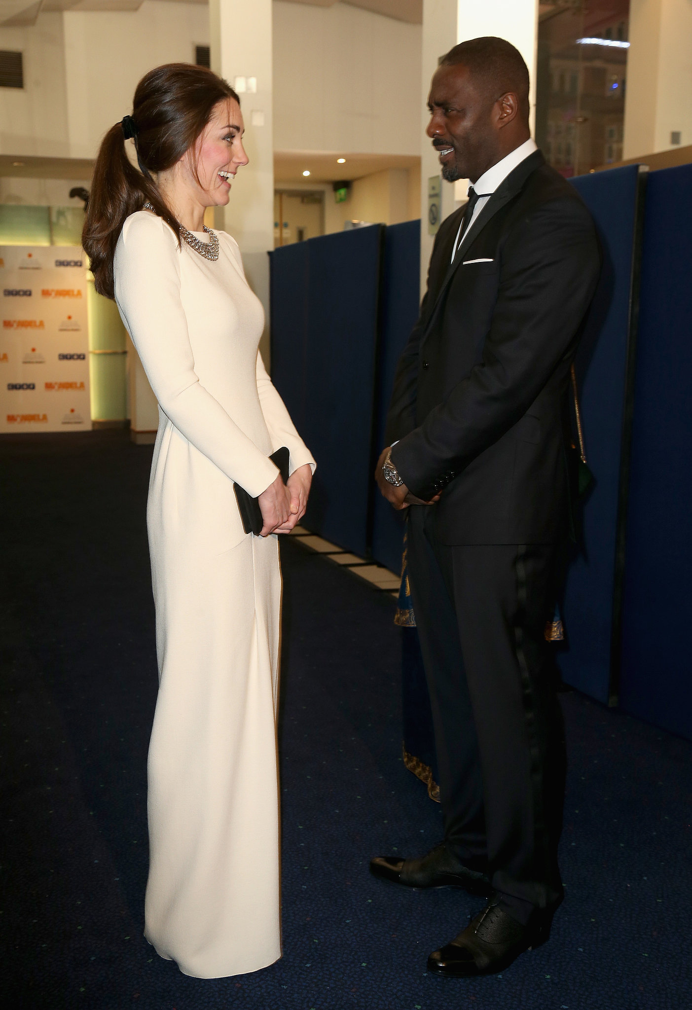 Kate got to meet Idris Elba at the premiere of Mandela: Long Walk to Freedom in London in December 2013.