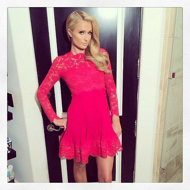 Paris Hilton struck a pose before the People's Choice Awards. Source: Instagram user parishilton