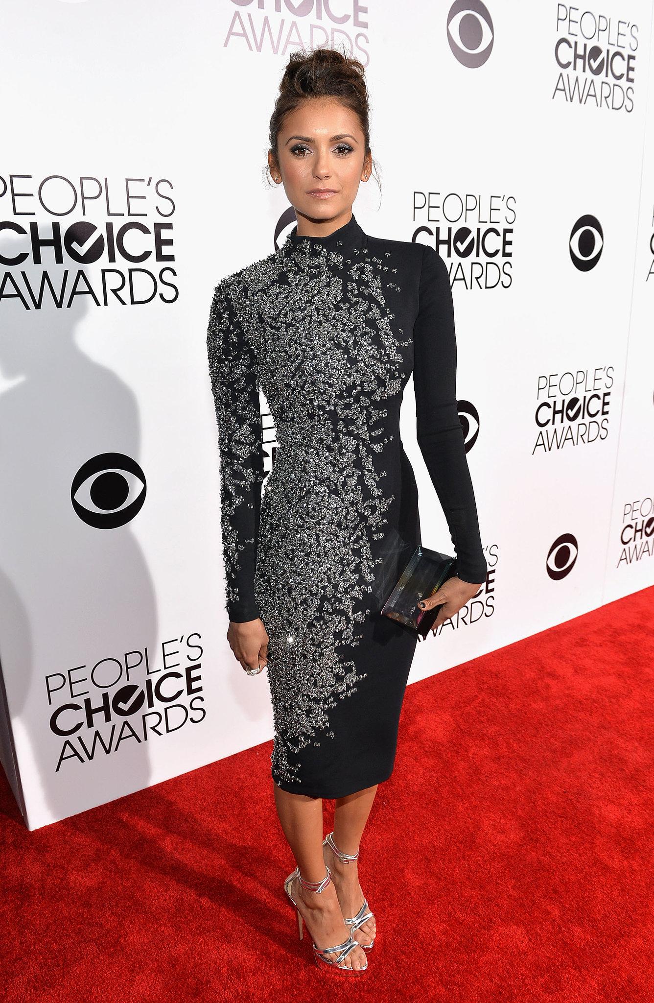 Nina Dobrev looked super hot at the People's Choice Awards.