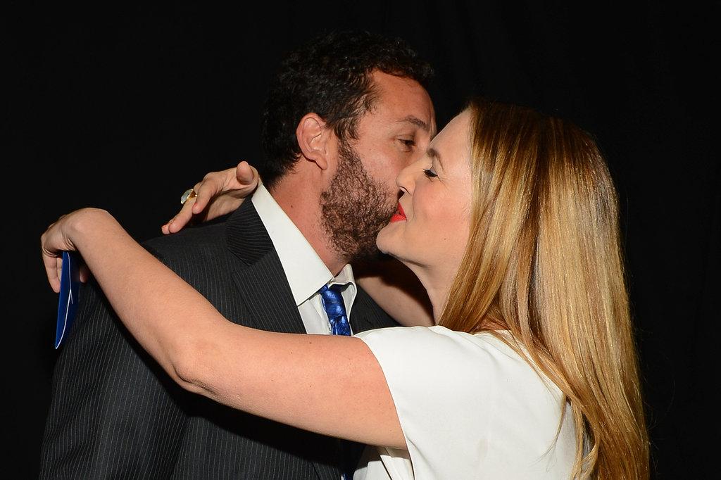 Adam gave Drew a kiss backstage.