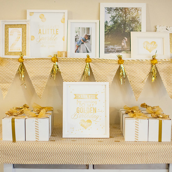 Golden Second Birthday Party