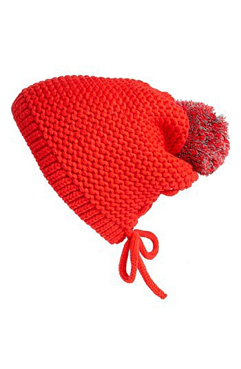 Nordstrom Red Beanie