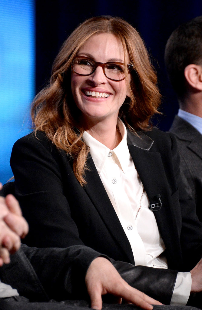 Julia Roberts gave a smirk while on stage for a panel.