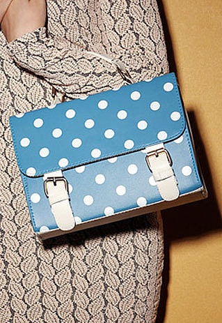 Image of [grzxy62000123]Sweet Cute Polka-dot Print Candy Color Clutch Bag Shoulder Bag
