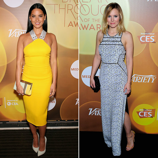 Olivia Munn in Yellow Dress at Variety Awards 2014