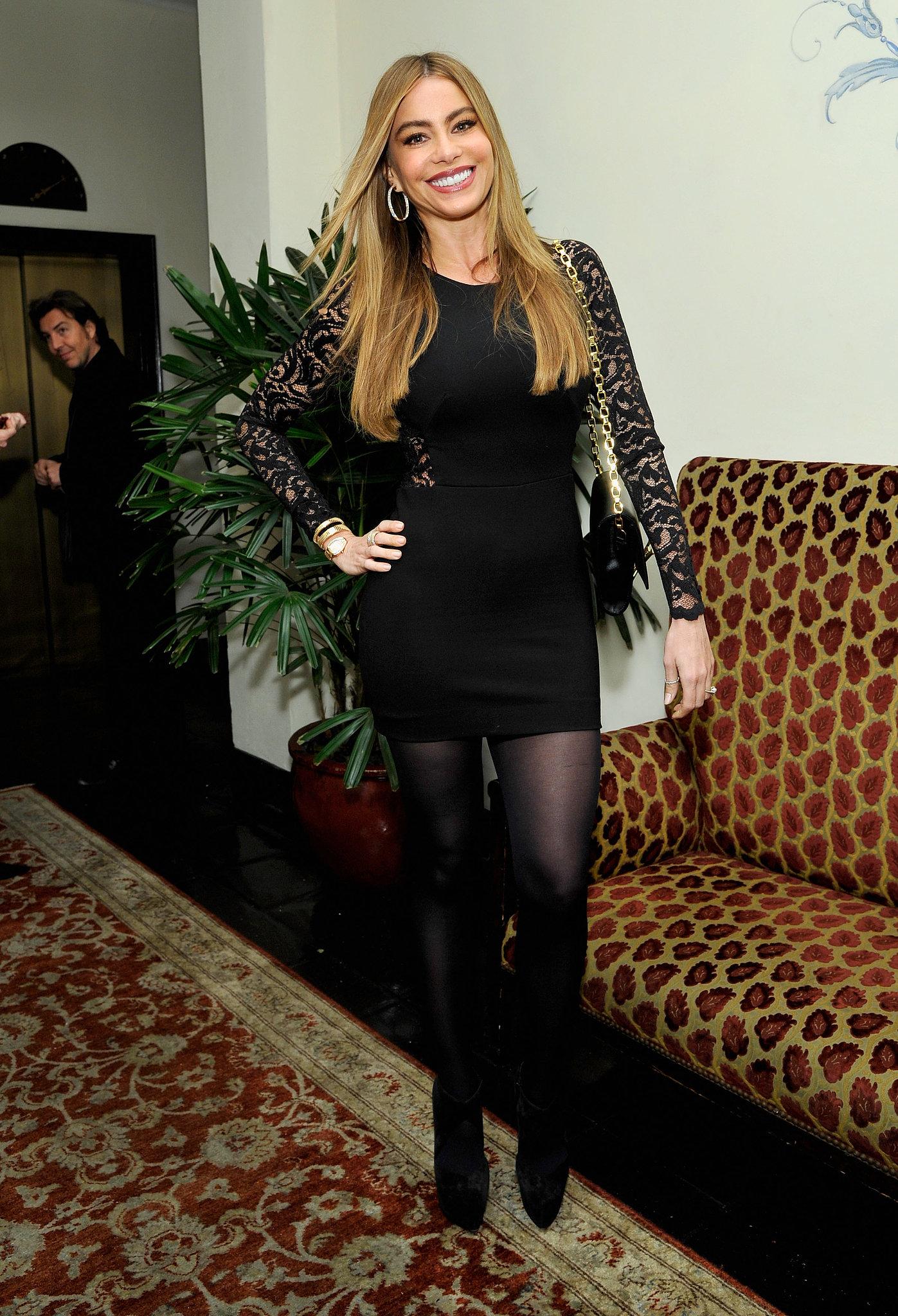 Sofia Vergara rocked a lighter hair color.