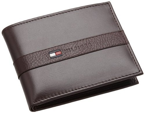 Amazon.com: Tommy Hilfiger Mens Ranger Passcase, Brown, One Size: Clothing