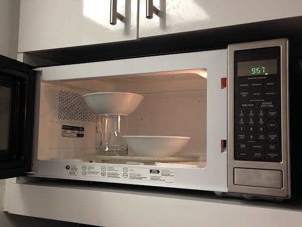 Microwave Two Bowls at Once