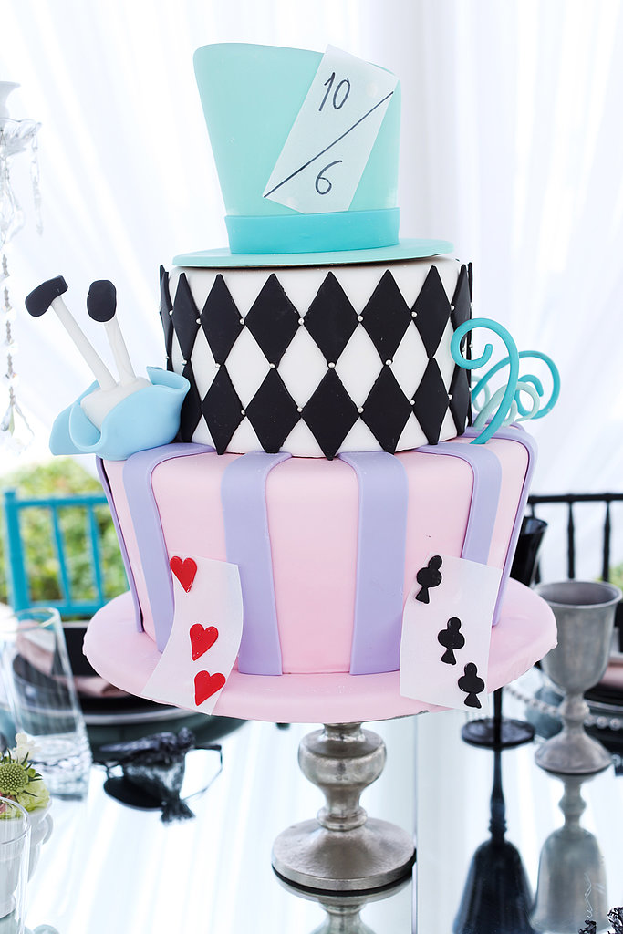 Mad Hatter Cake A Very Merry Unbirthday An Ode To Alice Sweet 16 Bash Popsugar Moms