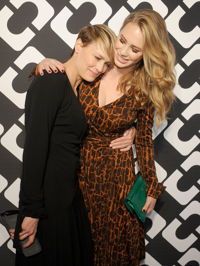 Photo of Robin Wright & her friend  Dylan Penn