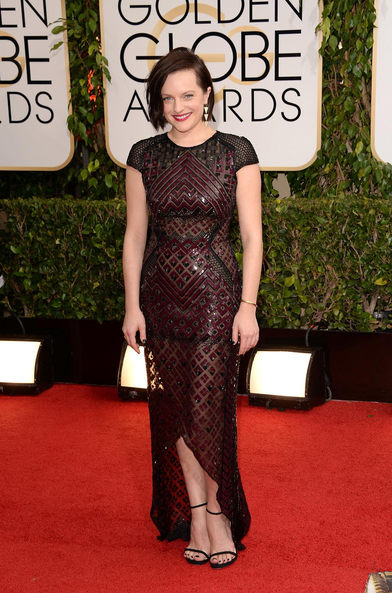 Mad Men's Elisabeth Moss showed up on the red carpet.