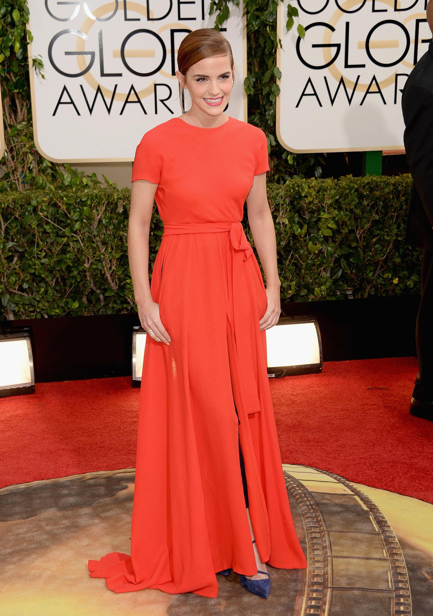 Emma Watson at the Golden Globes 2014