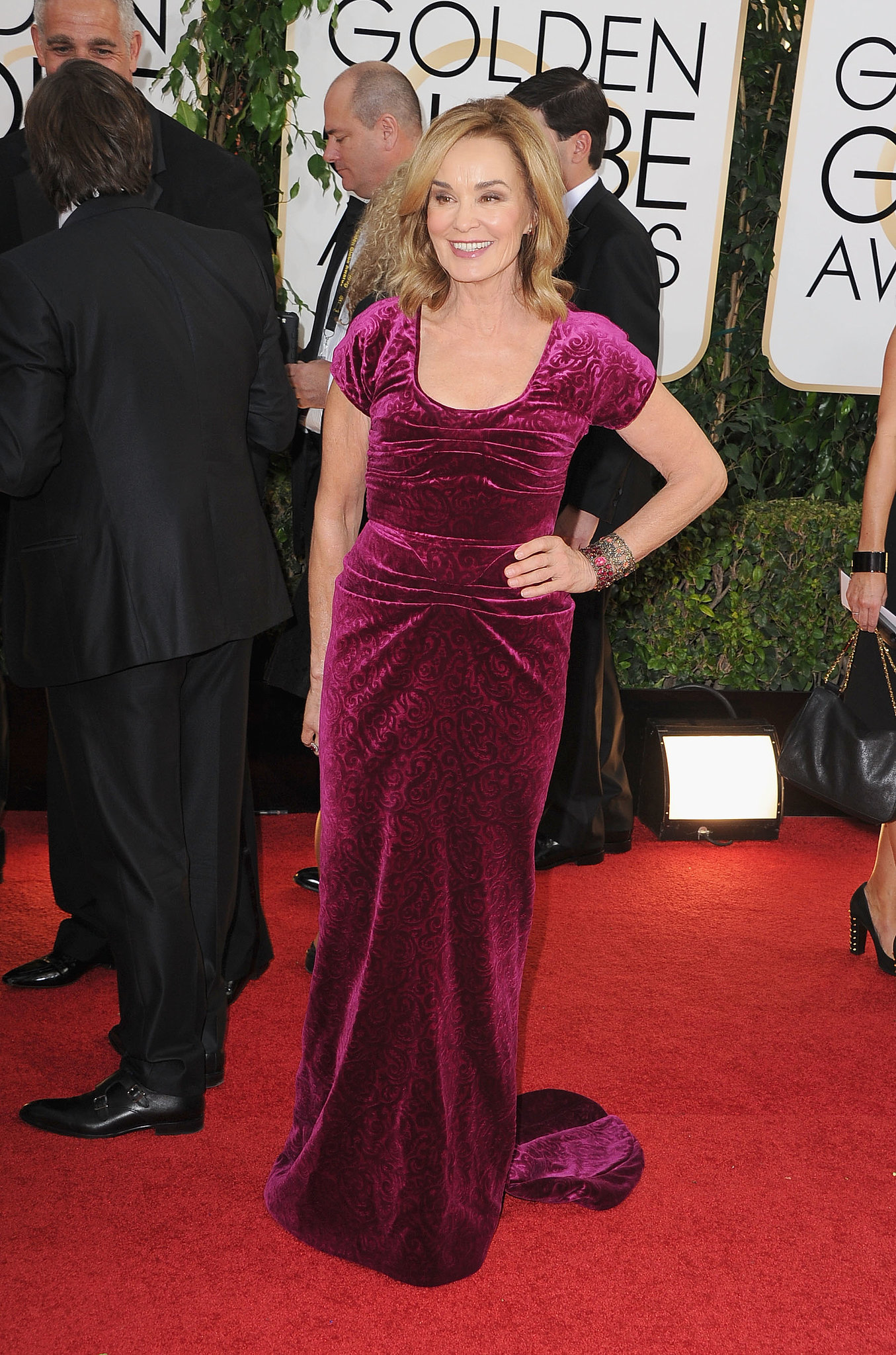 Jessica Lange arrived at the Golden Globes.