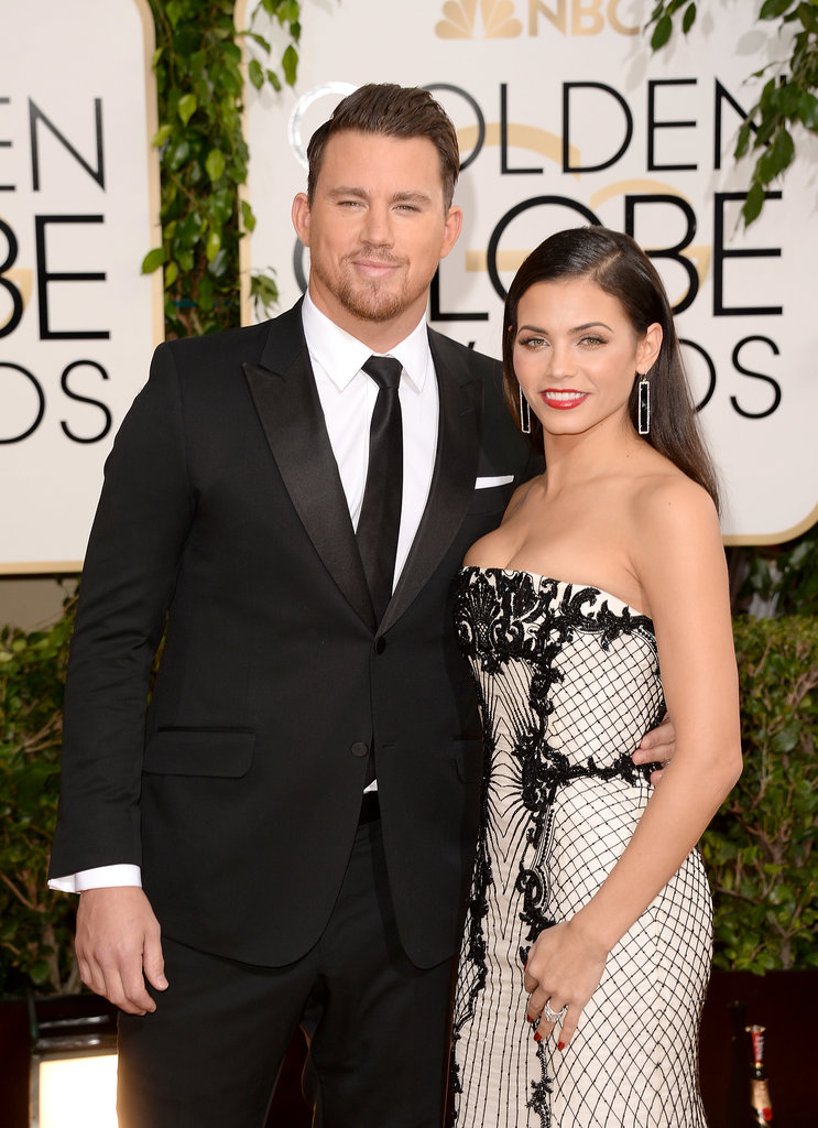 Channing Tatum and Jenna Dewan at 2014 Golden Globes ...