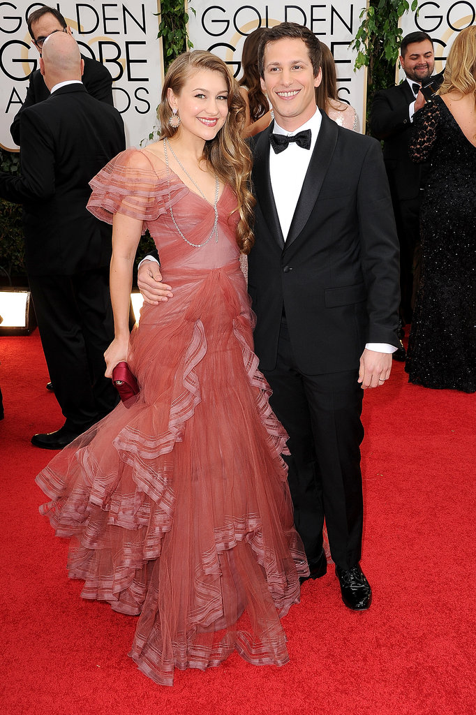 Andy Samberg and his wife, Joanna Newsom, arrived together ...