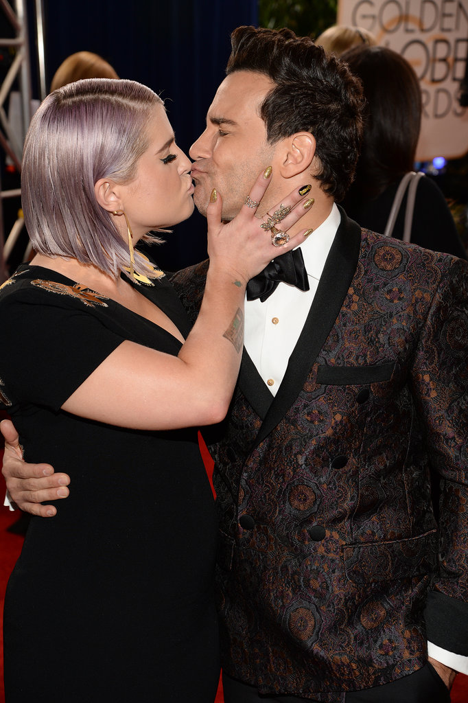 Kelly Osbourne Puckered Up to George Kotsiopoulos