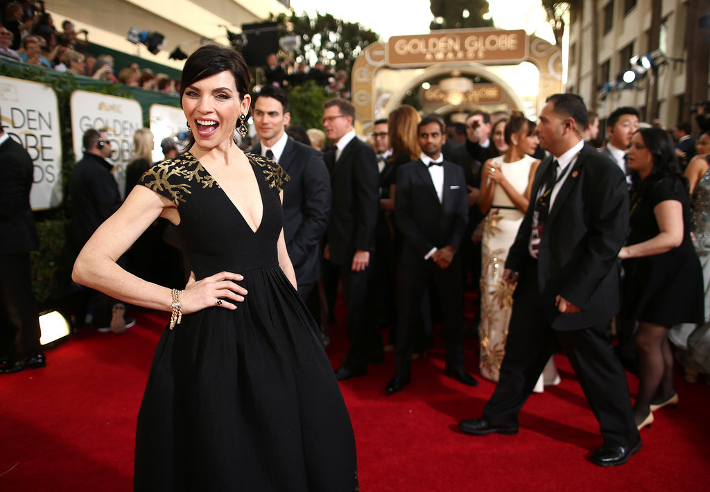 Julianna Margulies stopped traffic for a smiley red carpet pic.
