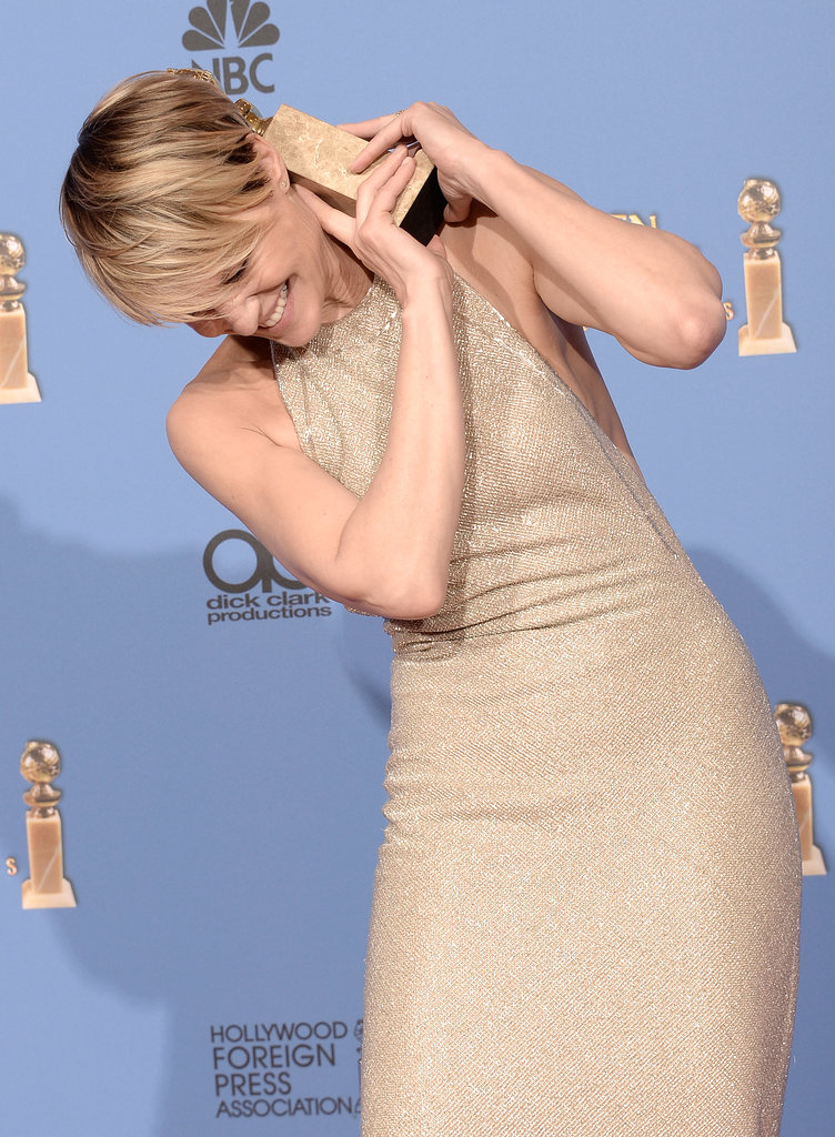 House of Cards star Robin Wright let loose in the press room.