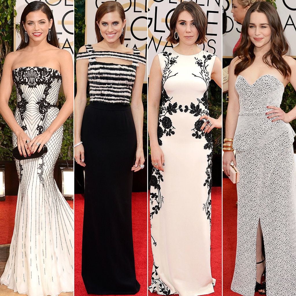 Black and white dresses at golden globes 2014 popsugar fashion - Black and white red carpet dresses ...