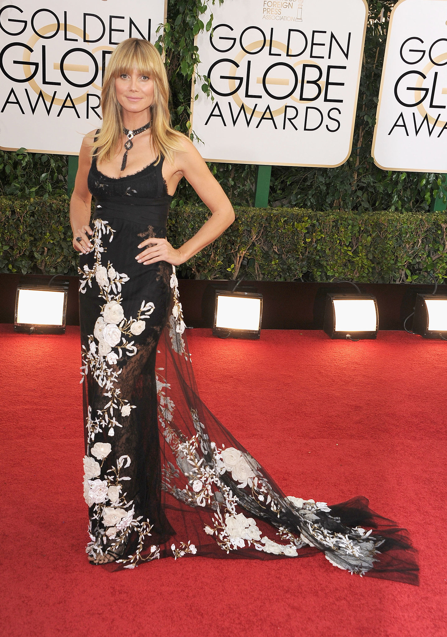 Heidi Klum in Marchesa