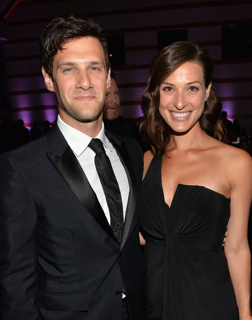 Justin Bartha and Lia Smith were spotted catching up with another expectant couple, Teresa Palmer and Mark Webber.
