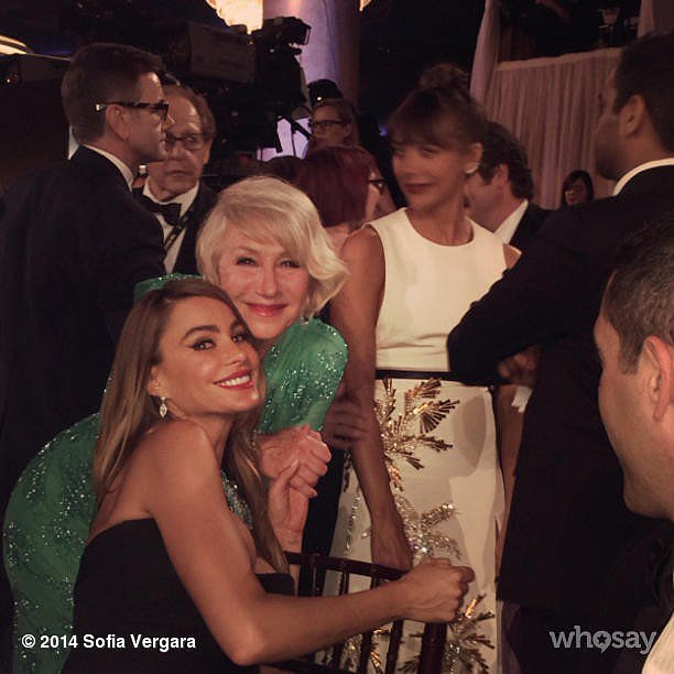 """And, according to her, """"tricked"""" the British star into taking a photo. Source: Instagram user sofiavergara"""