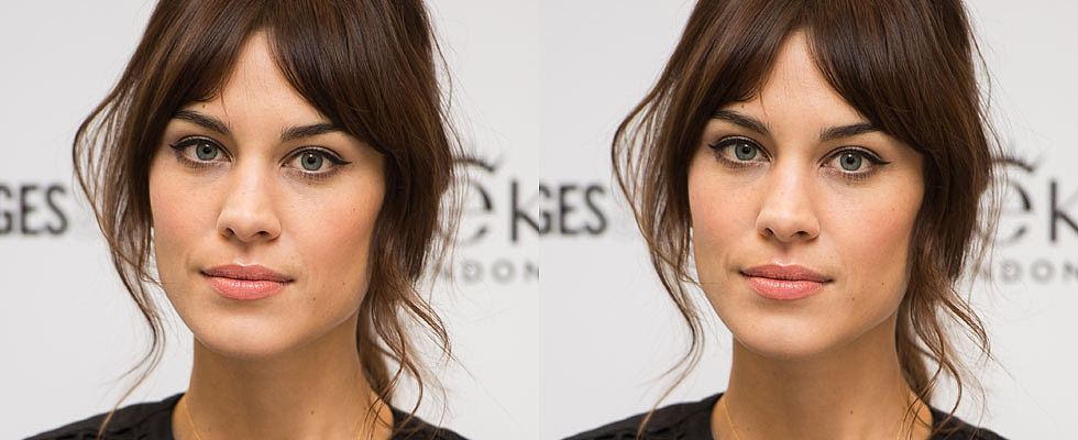 Yes, Alexa Chung Does Suffer From Greasy Fringe!