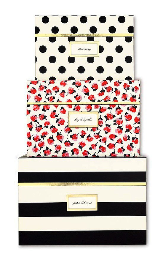 Forget the clunky file cabinet — we're fixated on outfitting our offices with these adorable Kate Spade nesting boxes ($59)!