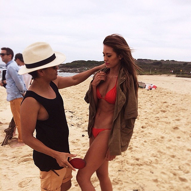 Jesinta Campbell modelled a red bikini for a shoot in December 2013. Source: Instagram user jesinta_campbell