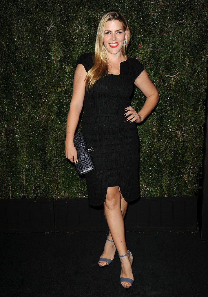 Busy Philipps showed off her svelte figure in a black dress.