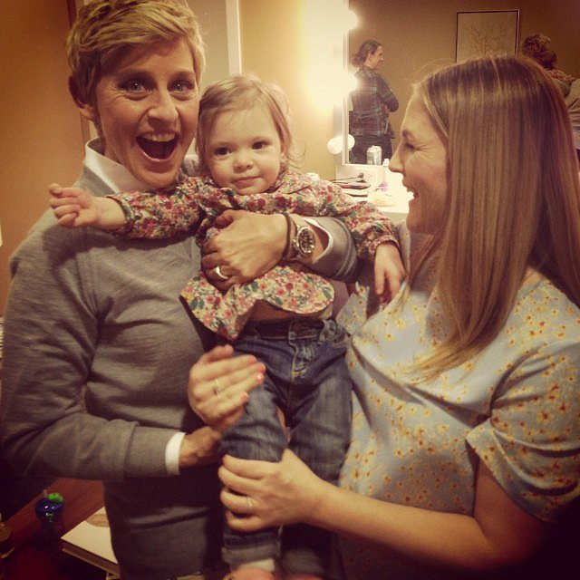 Drew Barrymore brought her daughter, Olive, along for an appearance on The Ellen DeGeneres Show. Source: Instagram user drewbarrymore