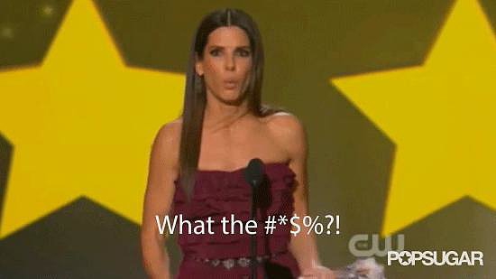 Sandra Bullock's Speech Was Interrupted by a Sound Byte