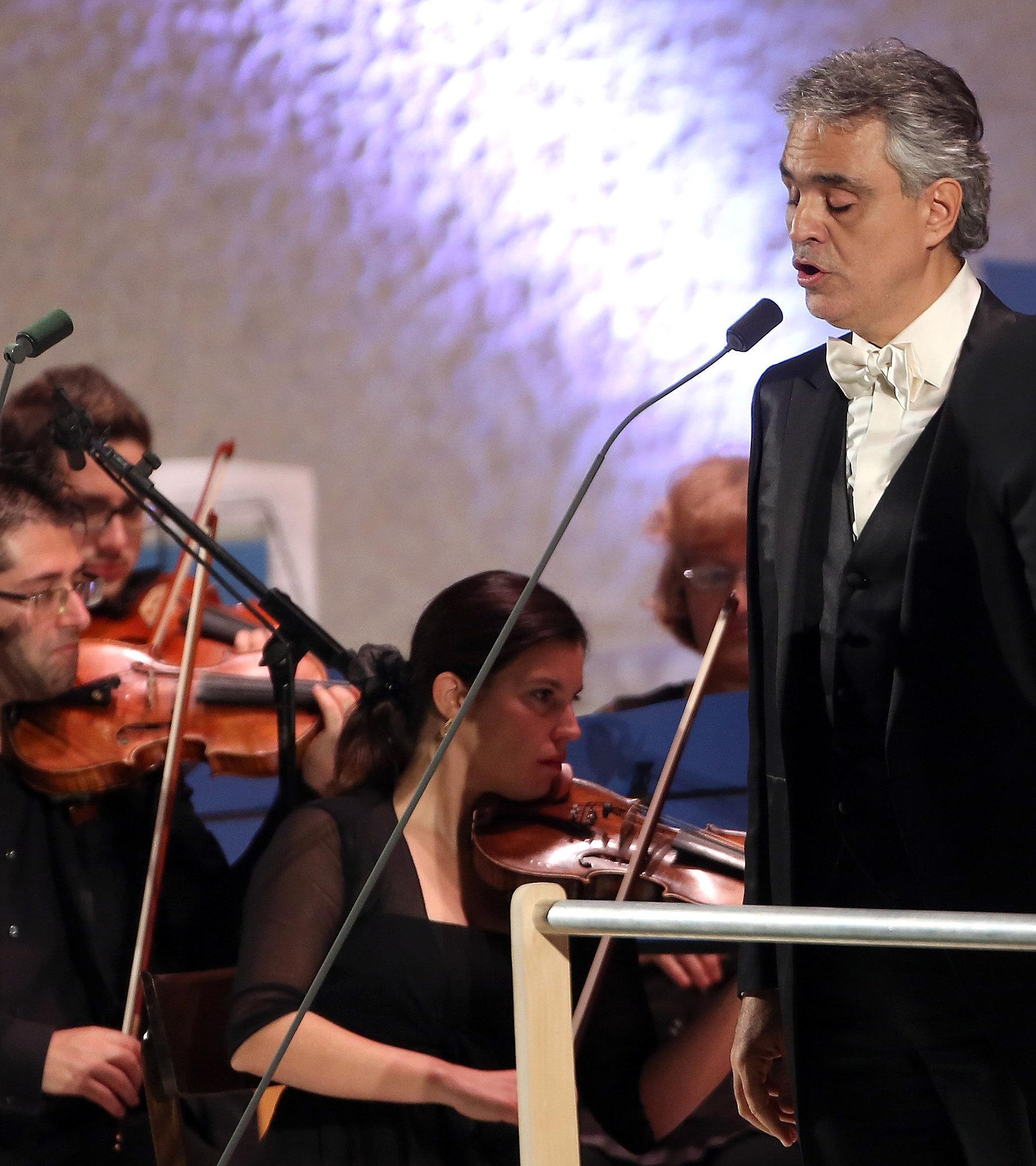 Hear Andrea Bocelli Sing Live