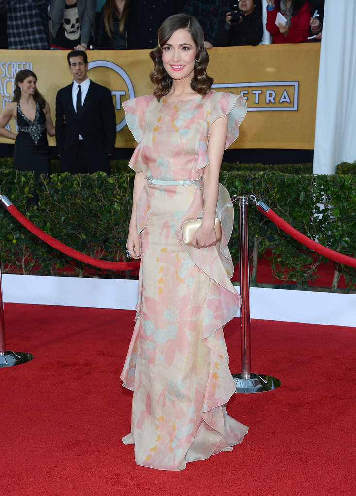 Rose Byrne was feminine as could be in this Valentino dress at the 2013 SAG Awards.
