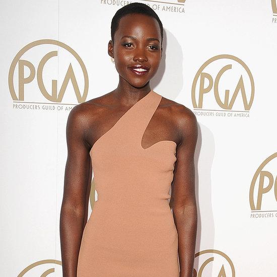 Lupita Nyong'o in Nude Dress at the Producers Guild Awards