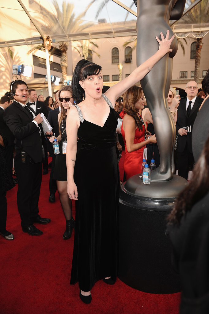 16. Pauley Perrette Taps That Booty on the SAG Statuette