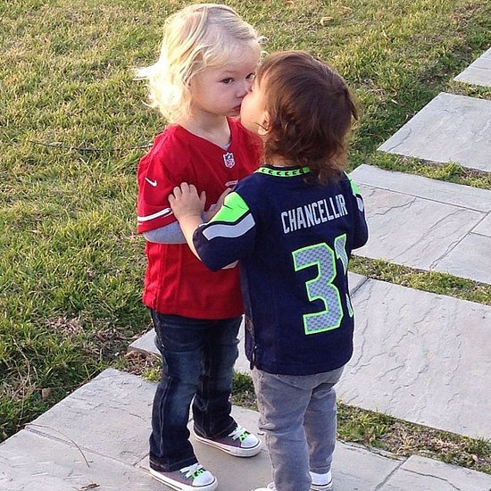 Jessica Simpson's Kids in 49ers Clothes