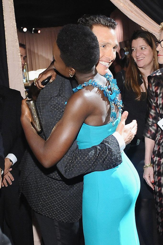 Matthew McConaughey gave Lupita Nyong'o a huge hug at the SAGs.