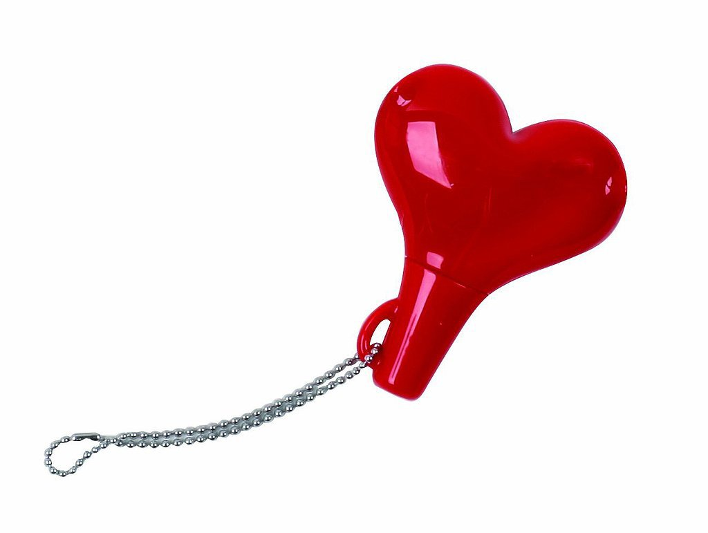 So you can listen to the same tunes at the same time, gift her with this cute heart headphone splitter ($7).
