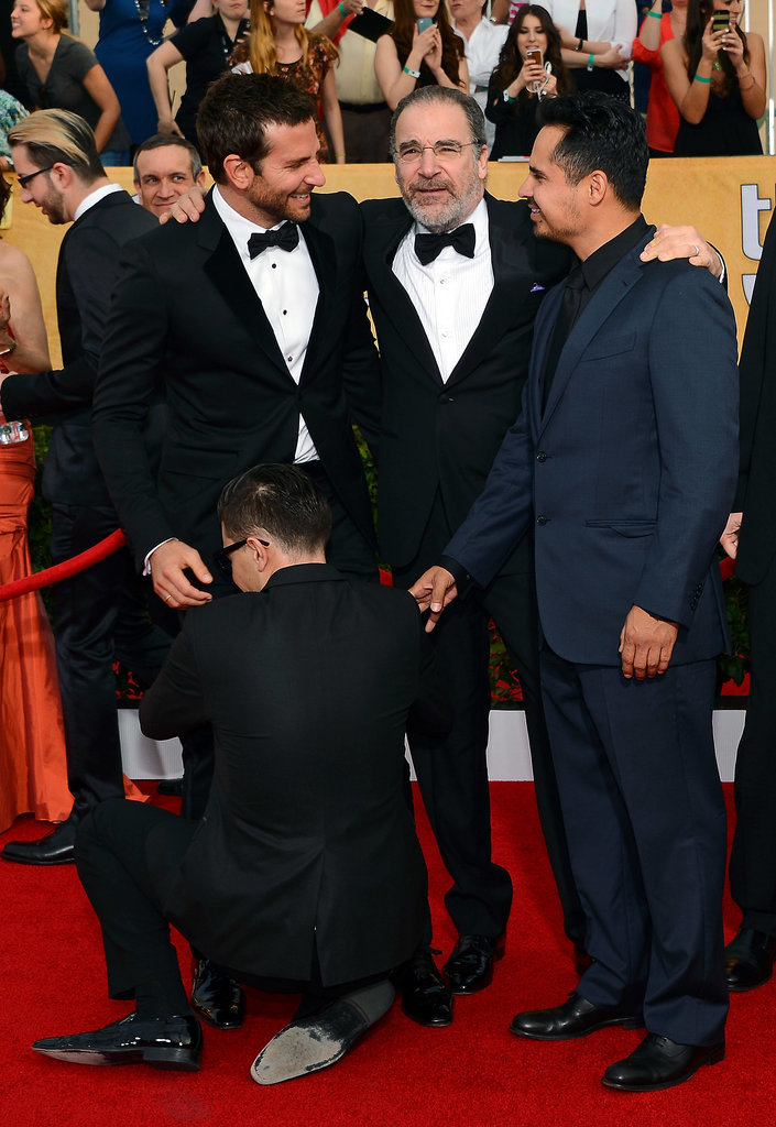Oh, and Bradley Got a Sneak-Attack Crotch Hug at the SAGs