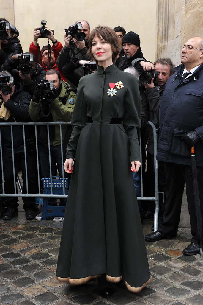 Ulyana Sergeenko at the Christian Dior Paris Haute Couture show.