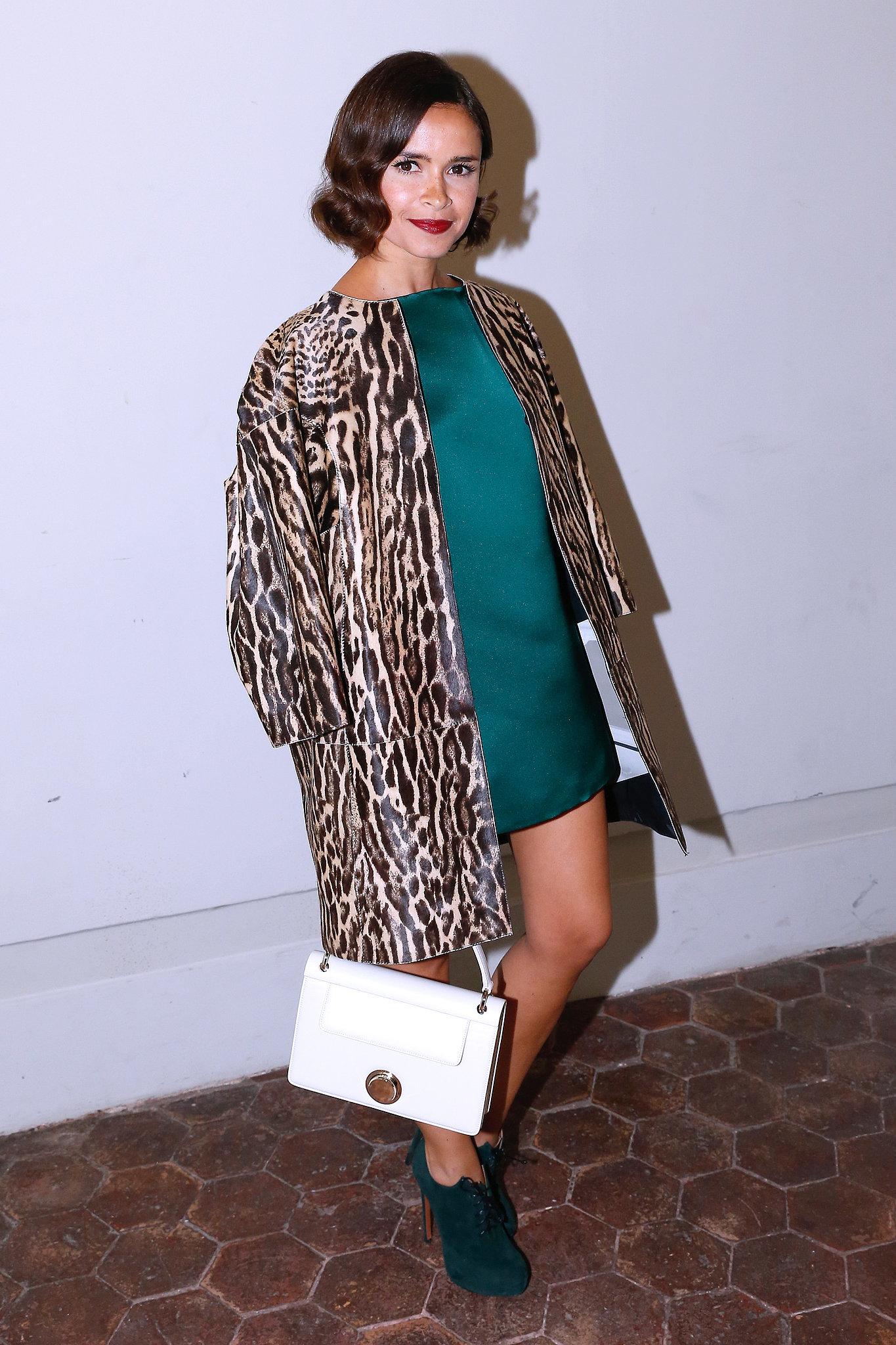 Miroslava Duma at the Giambattista Valli Paris Haute Couture show.