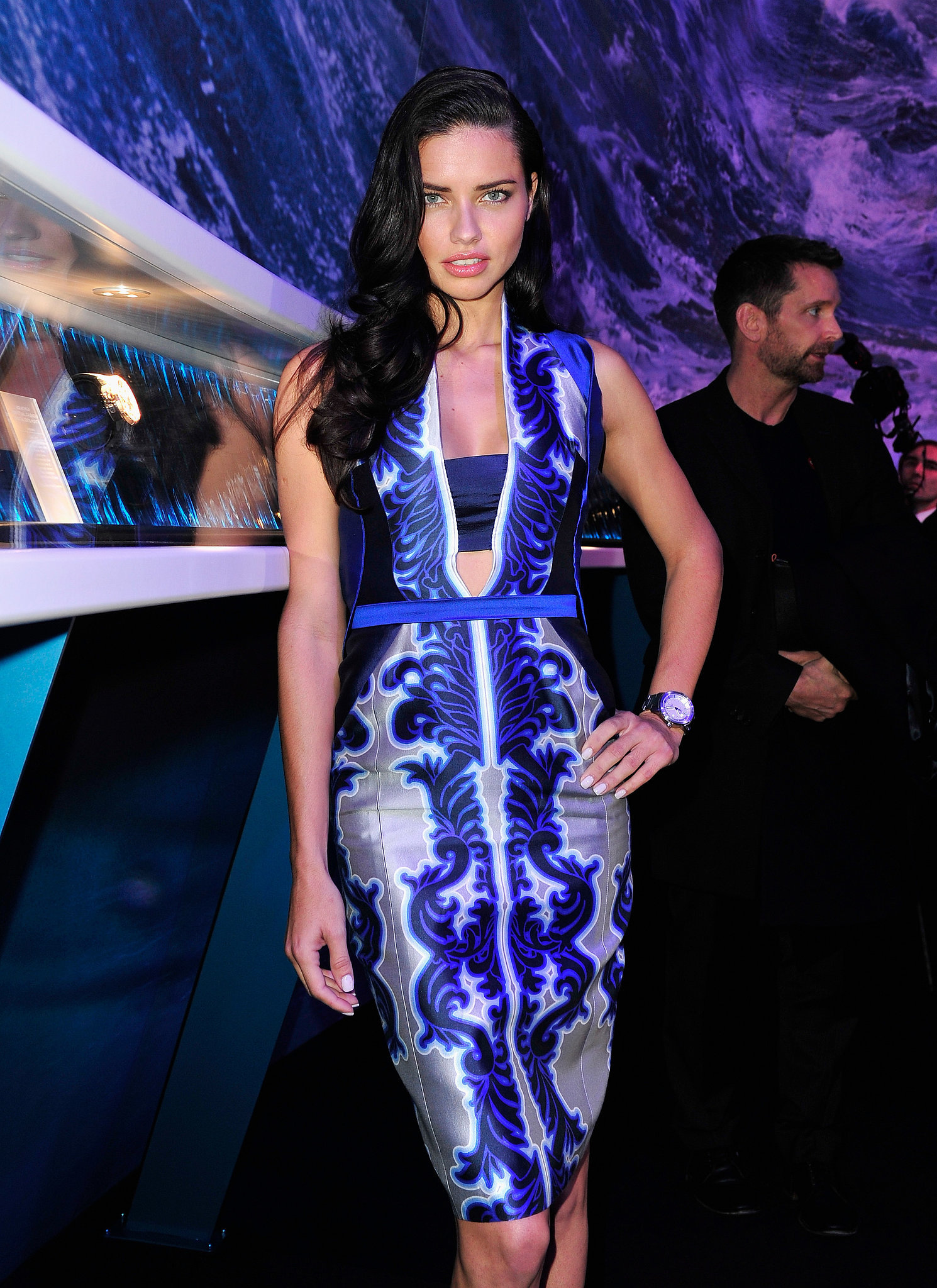 Adriana Lima in Bibhu Mohapatra at the IWC Schaffhausen event.