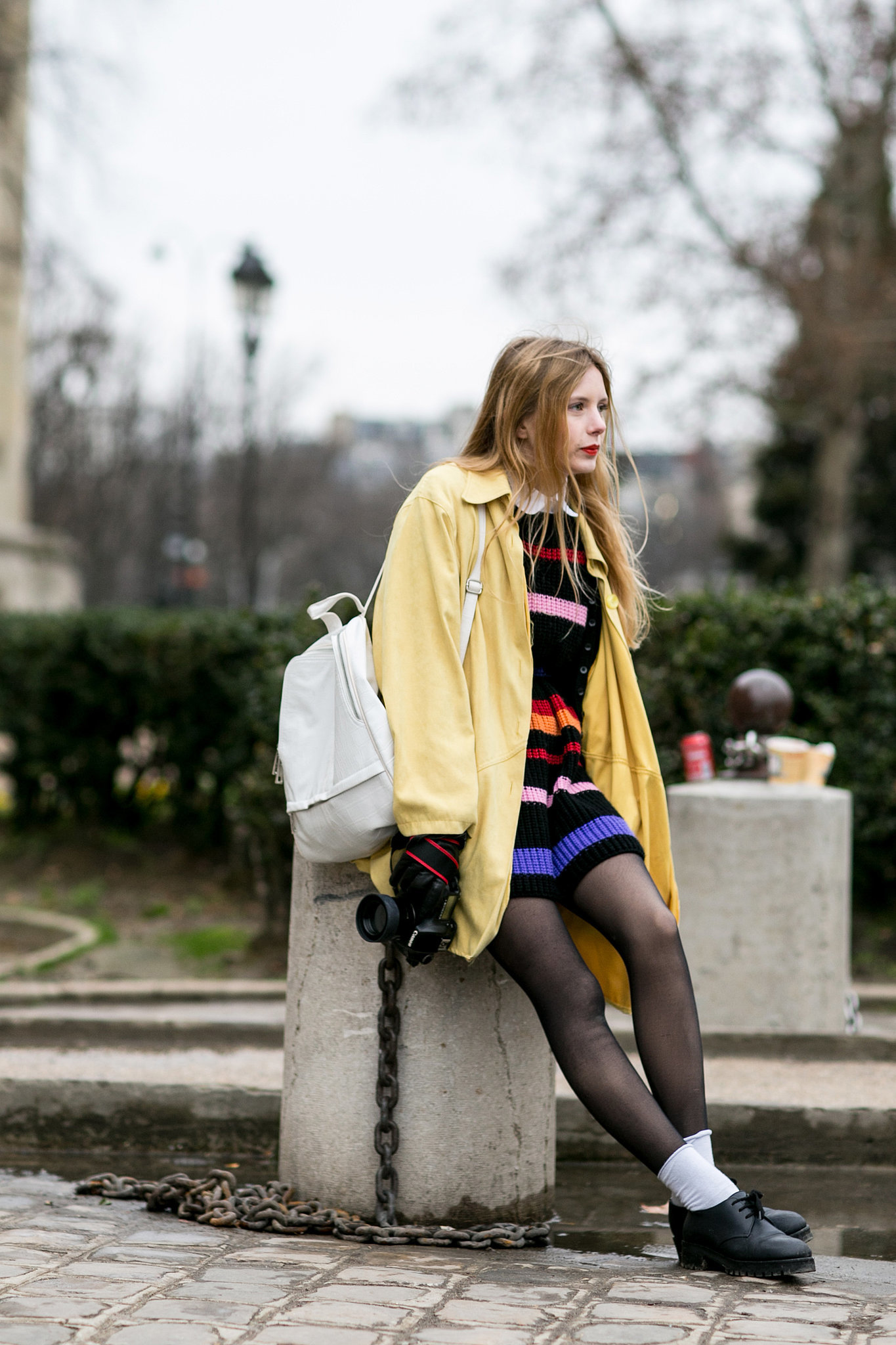 Schoolgirl goes high-fashion.